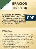 Migración al Perú, últimos 15 años