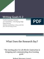 writing goals k-2