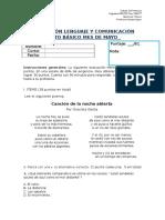 Evaluación Lenguaje y Comunicación Sexto Básico Mes de Mayo (1) (1)
