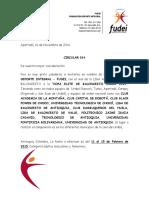 Circular - Invitacion Copa Elite de Baloncesto Uraba 2015