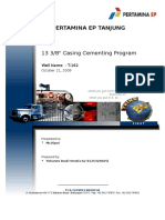 T-162 1338in Cementing Program (Oct 21,2009) - Copy