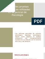 Principales Pruebas Psicológicas Utilizadas en La Pericial