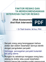 Kuliah Risk Assessment Blok Family Medicine