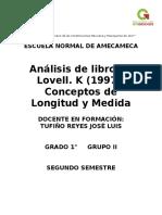 Resumen Conceptos de Longitud y Medida Libro Lovell, K. 1997