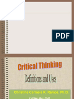 Critical Thinking Definitions
