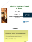 Tax Policies for Green Growth in Korea