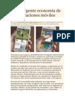 La Emergente Economía de Las Aplicaciones Móviles