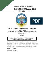 Tarea Nº 01 _ Plazos Anteriores y Actuales de La Investigación Preparatoria