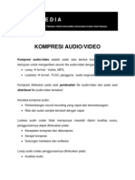 Kompresi Audio - Video