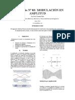 Modulación en Amplitud - Informe Previo 3