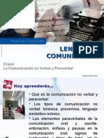 Clase Nº2 LC 3ºmedio La Comunicación No Verbal y Paraverbal