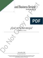 1. _Porter,2008_ Que Es La Estrategia