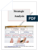Sample Report on Strategic Analysis By Instant Essay Writing
