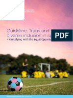 Guideline Trans and Gender Diverse Inclusion in Sport