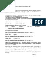 Best Method for Solving Quadratic Inequalities