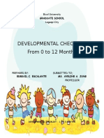 Developmental Checklist From 0-12 Months Old