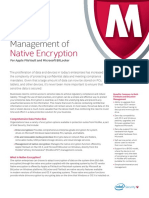 Sb Management of Native Encryption