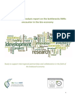 BBNWE Analysis Report on Bottlenecks SMEs Encounter in Bioeconomy Final