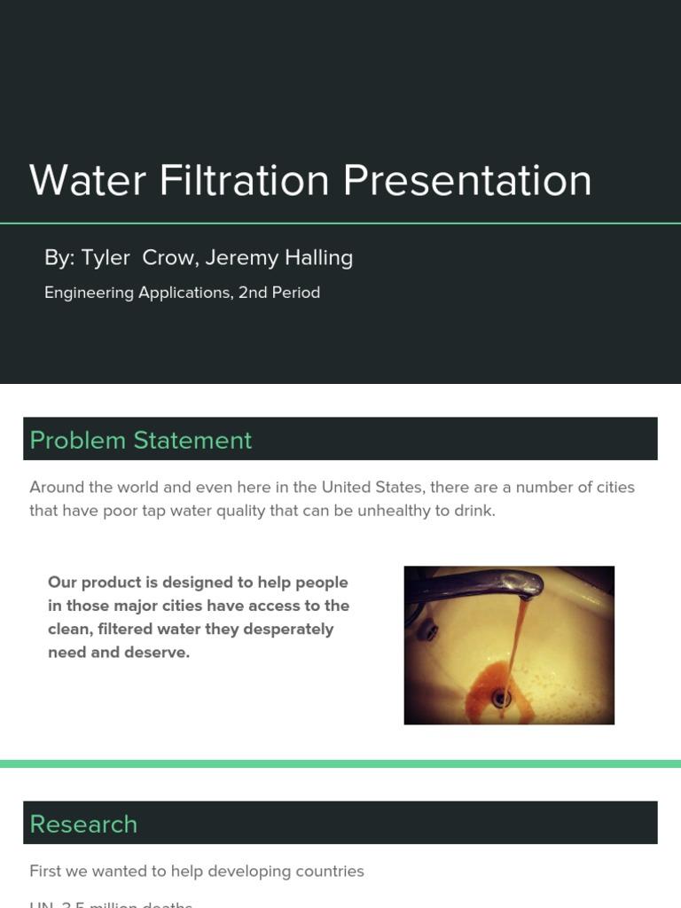 final presentation- tyler crow and jeremy halling | Agua de grifo