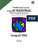 Soal Prediksi UN Geografi SMA 2013