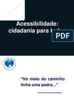 Acessibilidade Cidadania Para Todos