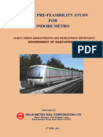 Pre-feasibilty Report for Indore Metro
