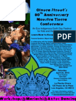 Olvera Street Merchants 80th Anniversary Nuestra Tierra Conference Poster