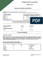 Sulfuric Acid MSDS
