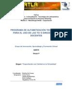 Propuesta de Capacitación Docente - GIAFVI - Grupo F