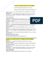 BIBLIOGRAFIA ETIMOLOGIAS