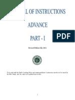 Mannual of Instruction Advance Vol - I-.doc