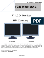 HP TFT-LCD Color Monitor L1702 - FP7317 Service Manual