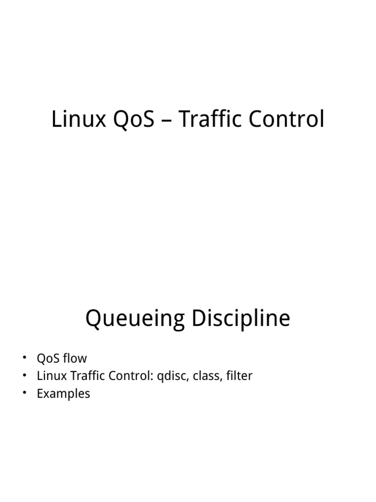 Linux Qos – Traffic Control