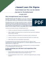 Flyer Training Strength based Lean Six Sigma 2017 - E.docx