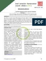 Formulation and Development of Non-Aqueo