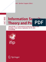 Information Security Theory and Practice - 10th IFIP WG 11.2 International Conference, WISTP 2016