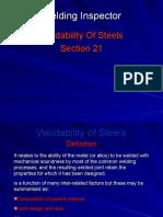 21 Weldability of Steels