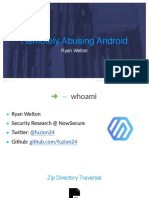London 15 Welton Abusing Android Apps and Gaining Remote Code Execution