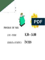 Programul de Vara
