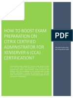 Certification Guide and Exam Summary on Citrix Certified Administrator for XenServer 6(CCA) 1Y0-A26 Exam