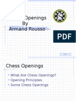 Armand Rousso describes the Pawn Structure  in the chess