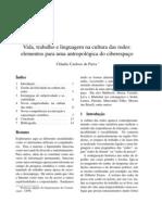 Vida, Trabalho e Linguagem Na Cultura Das Redes_elementos Para Uma Antropologia Do Ciberespaco