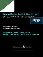 Granoller Acció Municipal en el Consum de Drogues 2016-2020