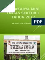 Lokakarya Mini Lintas Sektor