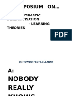 Systematic Desensitisation & Learning Theories