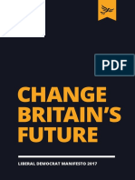 Liberal Democrat Manifesto 2017 - Change Britain's Future