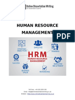 Sample Dissertation on Human Resource Management