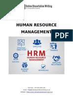 Sample Dissertation on Human Resource Management