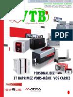 Catalogue Vtb Imprimantes de Carte Pvc 2016