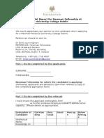 Newman Fellowship Referee Form
